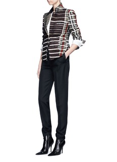Haider Ackermann Metallic tweed blazer