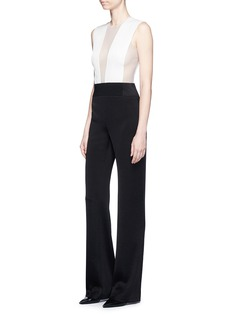 Galvan London 'Tuxedo' tulle and satin jumpsuit