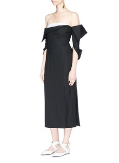 Monse Deconstructed off-shoulder corset dress