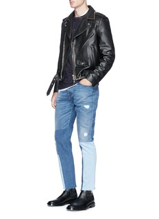 Valentino'Rockstud Untitled 20' calfskin leather jacket