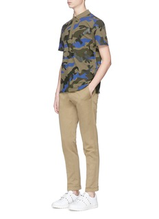 Valentino Camouflage print polo shirt