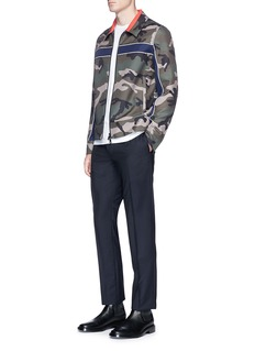 ValentinoCamouflage print coach jacket