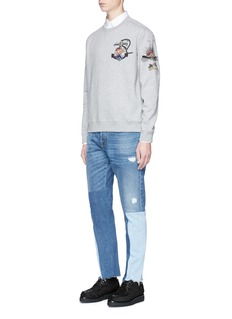 ValentinoTattoo bead embroidered sweatshirt