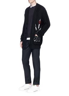 Valentino Zip pocket wool-mohair pants