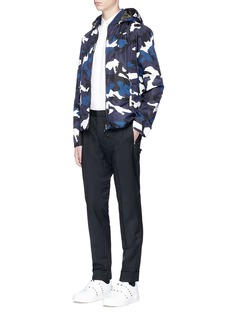 ValentinoCamouflage print reversible blouson jacket