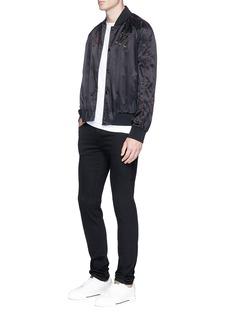 Valentino'Love Blade' appliqué satin souvenir jacket