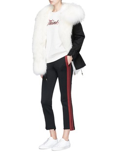 Mr & Mrs Italy 'Zarina' raccoon hood fox fur mini parka