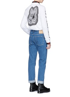 McQ Alexander McQueen 'Bunny Be Here Now' print long sleeve T-shirt