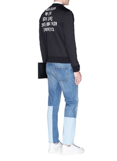Valentino x Jamie Reid button sleeve slogan print sweatshirt