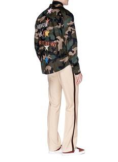 Valentino x Jamie Reid slogan patch camouflage shirt jacket