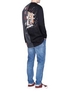 ValentinoReconstructed punk slogan print oversized sweatshirt