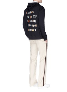 Valentino x Jamie Reid bead slogan appliqué zip hoodie