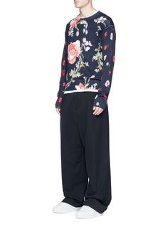 McQ Alexander McQueen 'Thrift Store Florals' print wool sweater