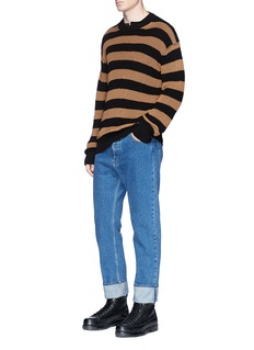 McQ Alexander McQueen Stripe cotton-linen sweater