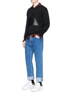 McQ Alexander McQueen 'END' triangle appliqué sweater