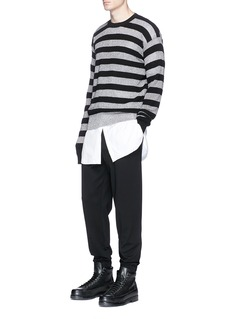 McQ Alexander McQueen Pleated jersey track pants