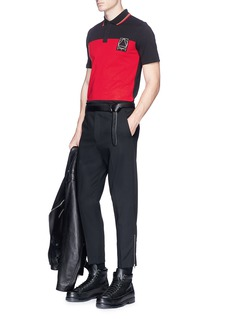 McQ Alexander McQueenColourblock jersey polo shirt