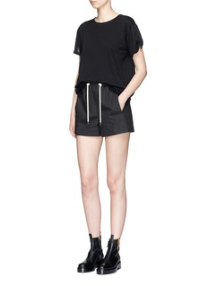 Helmut LangDrawstring waist twill shorts