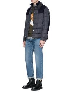 Moncler'Clovis' wool panel down puffer jacket
