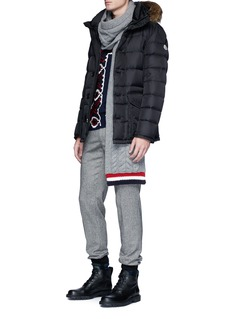 Moncler 'Cluny' coyote fur trim down puffer jacket
