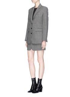 Helmut Lang Houndstooth plaid wool tweed skirt