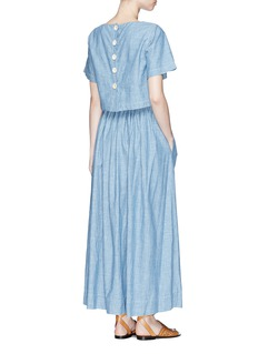Chloé Button top overlay chambray dress