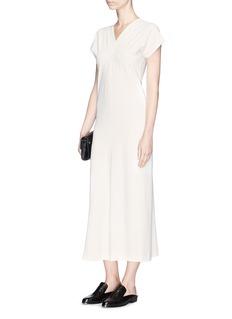 Helmut Lang V-neck crepe maxi dress