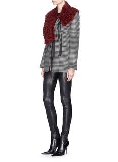 Helmut Lang Houndstooth wool tweed blazer