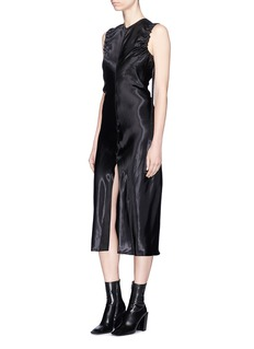 Helmut Lang Ruched armhole satin dress