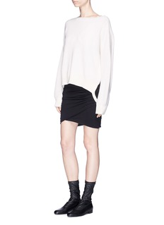 Helmut Lang 'Essential' cutout side cotton-blend sweater