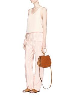 Chloé Stripe cotton blend cargo pants