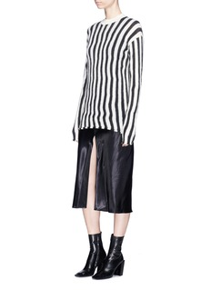Helmut Lang Irregular stripe brushed sweater