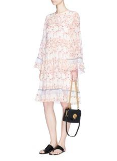 ChloéRuffle floral print crépon dress
