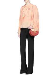 Chloé Pussybow ruched crepe de chine blouse