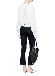 Helmut Lang Cropped flared denim pants