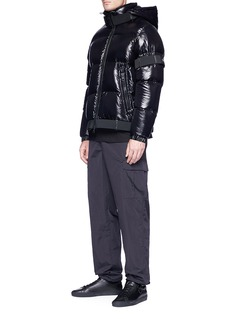 Moncler Capsule x Craig Green 'Brook' buckle strap down puffer jacket