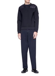 Moncler Capsule Quilted panel neoprene sweatshirt