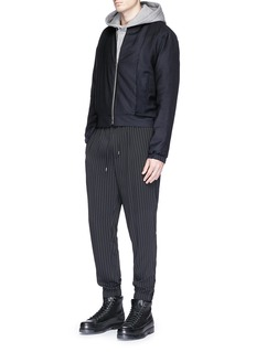 McQ Alexander McQueen Pleated suiting blouson jacket