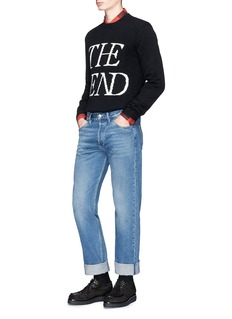 McQ Alexander McQueen 'The End' slogan intarsia wool-cashmere sweater