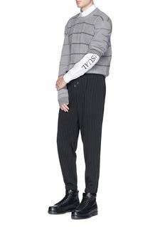 McQ Alexander McQueenStripe wool-cashmere sweater