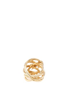 Stephen Webster 'Poison Ivy Couture Set' diamond 18k yellow gold caged ring