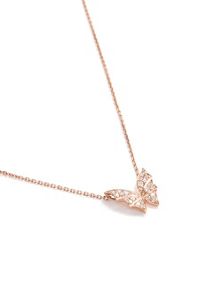 Stephen Webster Batmoth diamond 18k rose gold mini pendant necklace