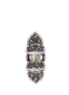Stephen Webster'Armadillo' Crystal Haze diamond sapphire long finger ring