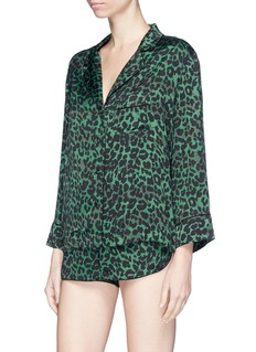 Love Stories 'Jude XL' leopard print sateen pyjama top