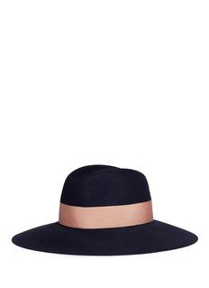 Borsalino 'Alessandria' wide brim rabbit furfelt fedora hat