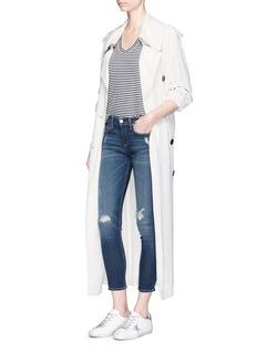 rag & bone/JEAN'Capri' distressed skinny jeans