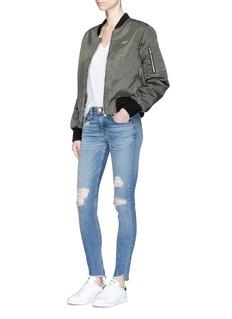 rag & bone/JEAN'Skinny' staggered hem jeans