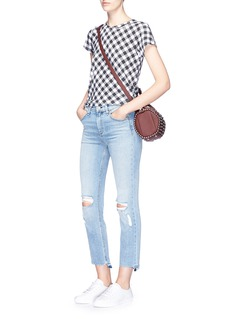 rag & bone/JEAN Gingham check print T-shirt