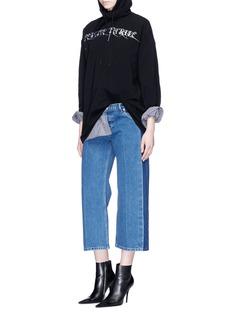 Balenciaga 'Rockabilly' side fade wide leg cropped jeans