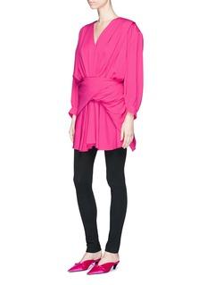 Balenciaga'Uplifted' tie back mini dress